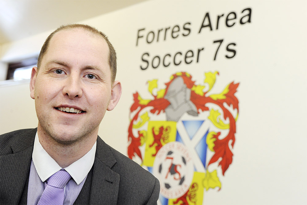 Shaun Moat, chairman of Forres Soccer 7s